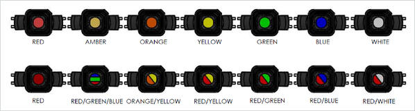 fourteen color options
